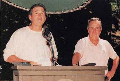 George Bush Senior and Junior
